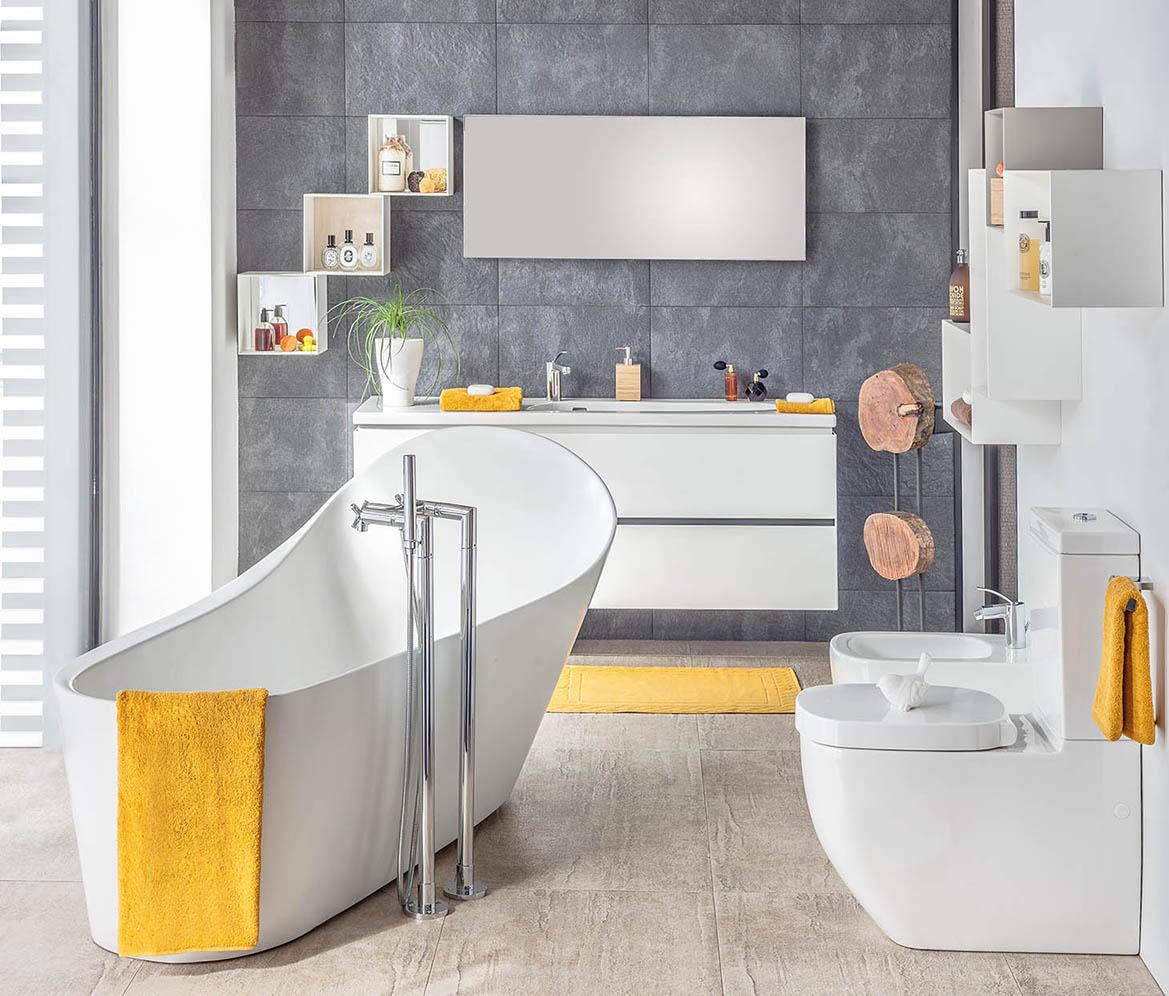 la salle de bain se fait une beaut deco actuelle. Black Bedroom Furniture Sets. Home Design Ideas
