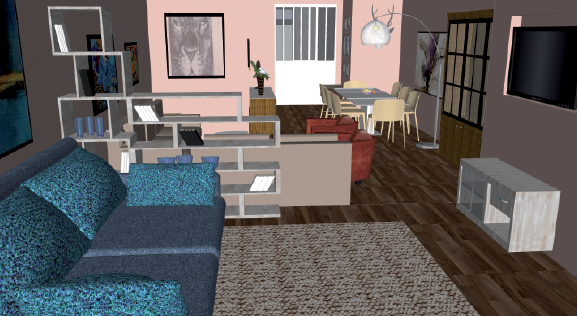 un appartement cosy chic deco actuelle. Black Bedroom Furniture Sets. Home Design Ideas