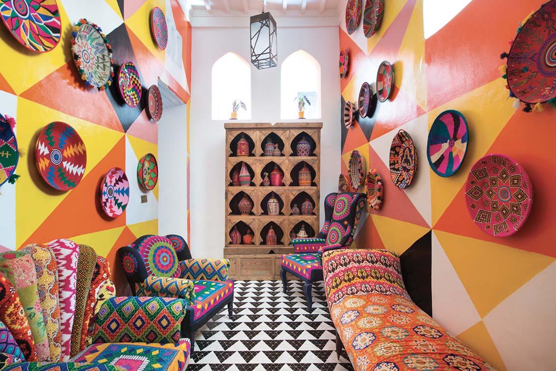 Salut Maroc, un riad funky et assurément arty!