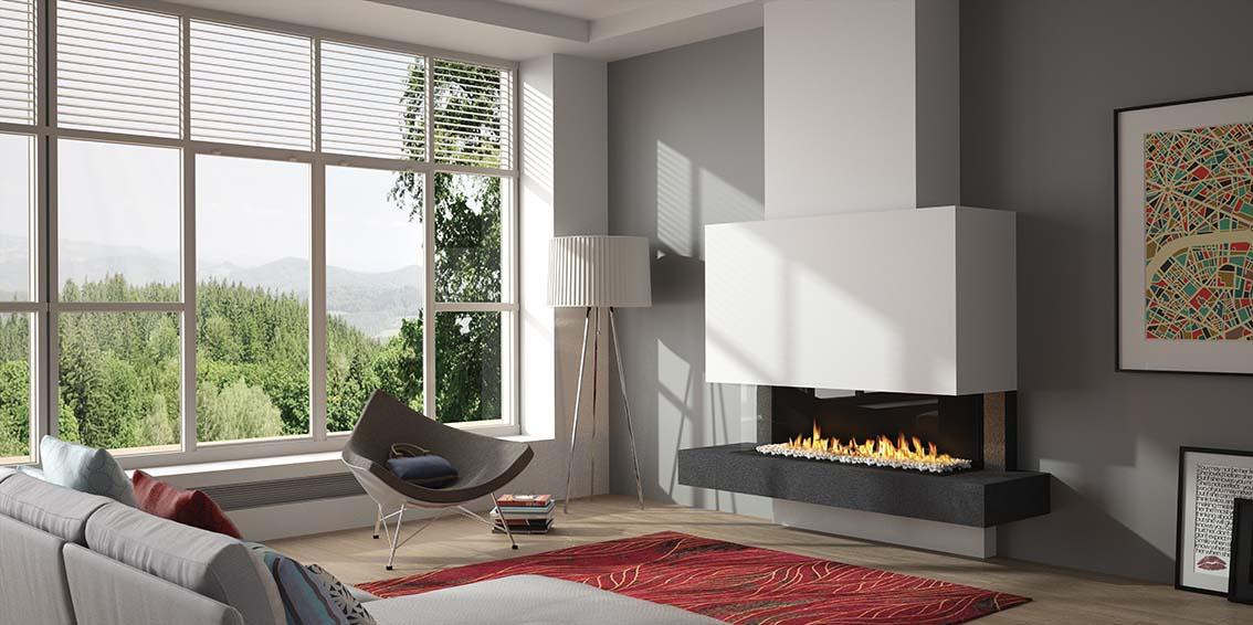 Un coin feu esthétique et chaleureux